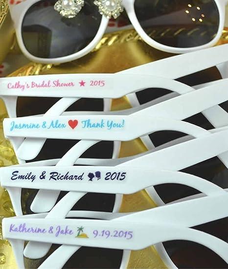 10 invierno boda favorece gafas de sol personalizada, playa ...
