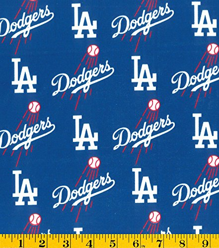(Country Snuggles Dodgers Fabric by the Yard (Fat Quarter))