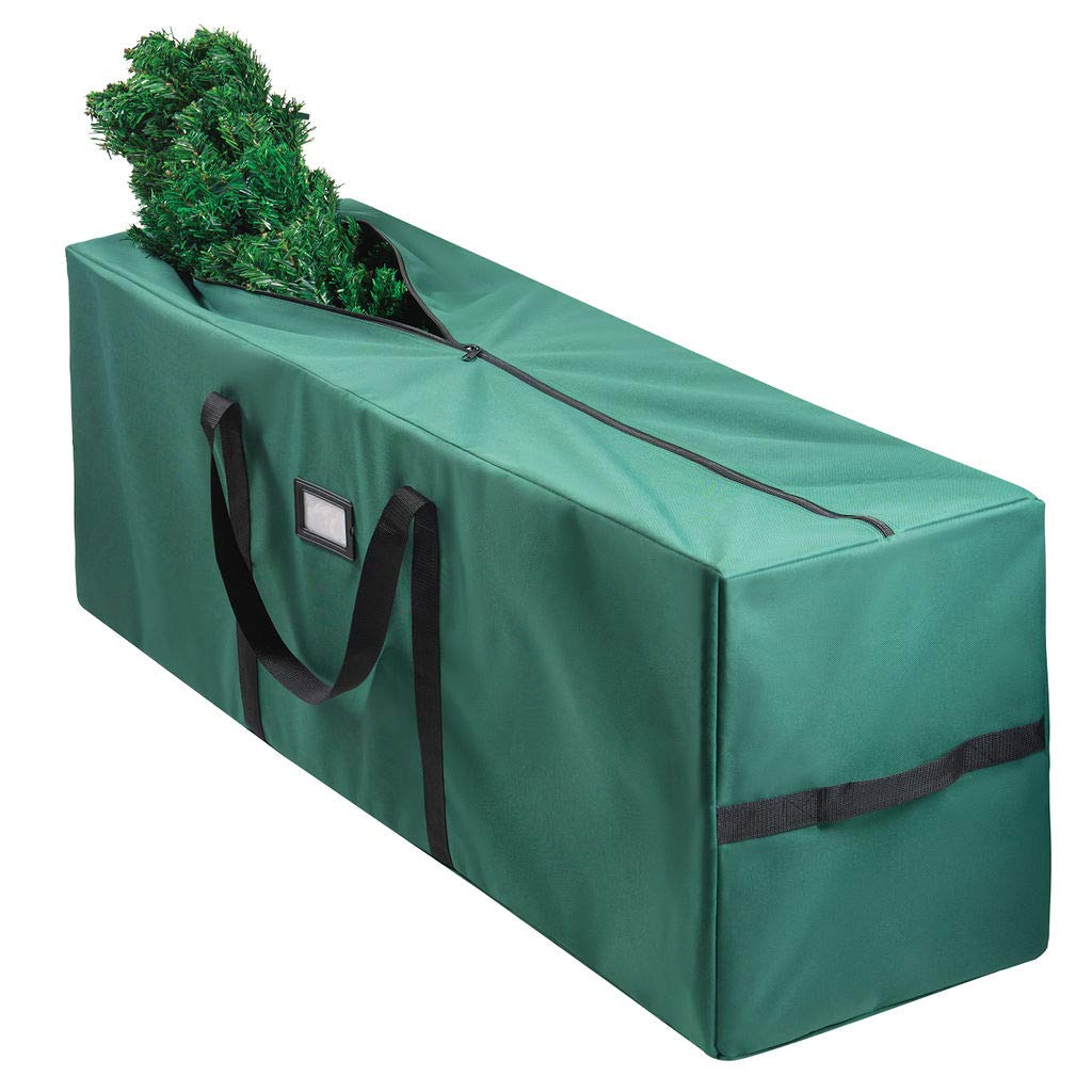 Christmas Tree Bag for Christmas Tree Storage Bag (Canvas) - Xmas Tree Bag fits 8 FT Artificial dissembled Tree - Heavy Christmas Tree Tote, Reinforced Handles- Christmas Tree Storage Tote Waterproof