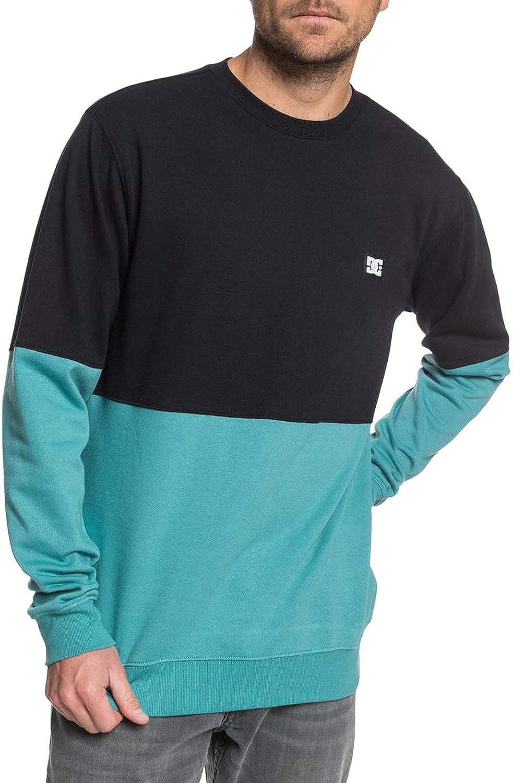 DC Universe Herren Rebel Sl Crew Block Fleece Sweatshirt Blaugrün