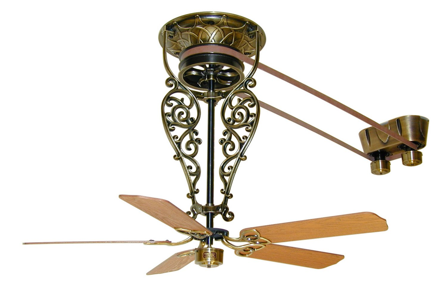 Fanimation FP580AB-18-L1 Fan, Antique Brass