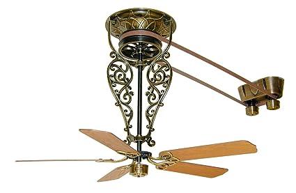 Fanimation Fp580ab 18 L1 Fan Antique Brass Antique Ceiling Fans