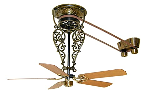 Fanimation FP580AB 18 L1 Fan Antique Ceiling Fans Belt Driven