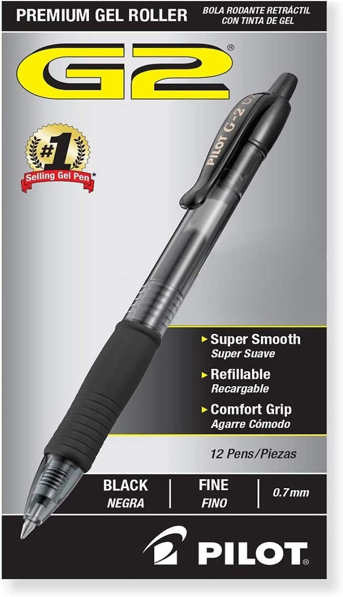 PILOT G2 Premium Refillable & Retractable Rolling Ball Gel Pen