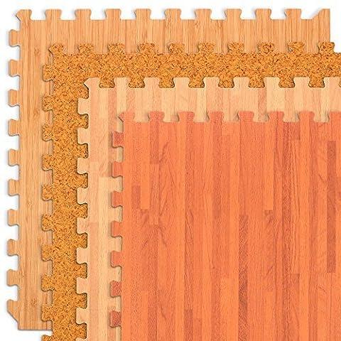 We Sell Mats Forest Floor Mahogany Wood Grain Interlocking Foam Anti Fatigue Flooring 2'x2' Tiles - Flooring