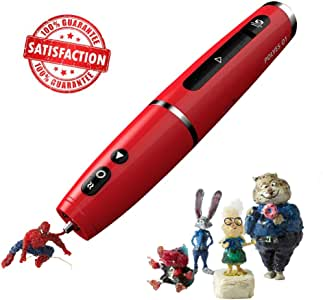 Safest 3D Pen by Future Make Polyes Q1. World's First 3D Printing Pen with Cool Ink, No Hot Parts, No Wires. 3D Arts & Crafts 3D Printer Pen for Professional 3D Drawing, Modeling, Crafting (Red)