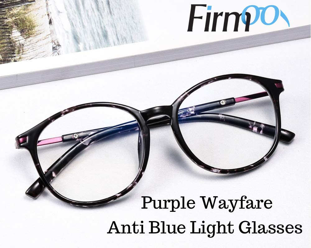 Firmoo Customized Wayfarer Non-prescription Glasses Eyeglasses Anti Blue Light Lens Eyewear for Women Men