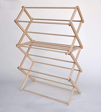 Amazoncom Large Wooden Clothes Drying Rack By Benson Wood Products
