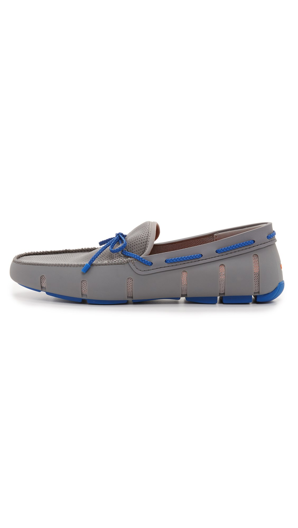 SWIMS Men's Braided Lace Loafers, Grey/Blue, 7 D(M) US by SWIMS (Image #2)