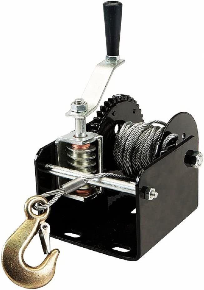 1 Ton 2000 Lb Capacity Worm Gear seits Winch 40:1 Ratio Boats Trailers Pick Up