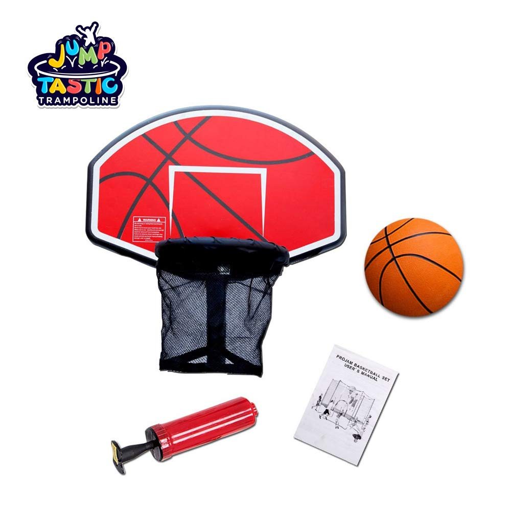 Kugo Sports Trampoline Basketball Set/Universal Basketball Hoop/with Pump and Rubber Ball by Kugo Sports