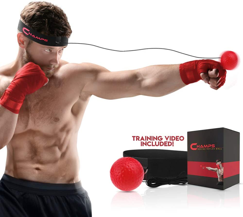 With Fancy Elastic Exercise Punch Ball Speed Boxing Training