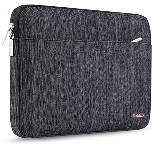 ZinMark Laptop Sleeve 13 Inch Case, Compatible 2018 New MacBook Air Retina A1932 | MacBook Pro 13 Inch A1706 / A1708 | Surface Pro 3/4/5/6, Certified Water-Resistant Shockproof Cover, Denim Black