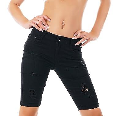 Discounter Abstand wählen große sorten Nina Carter Women's Knee-Length Bermuda Jeans with Cracks ...