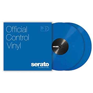 Serato SCV-PS-BLUE-2 - Plato de vinilo para tocadiscos (2 unidades, 12