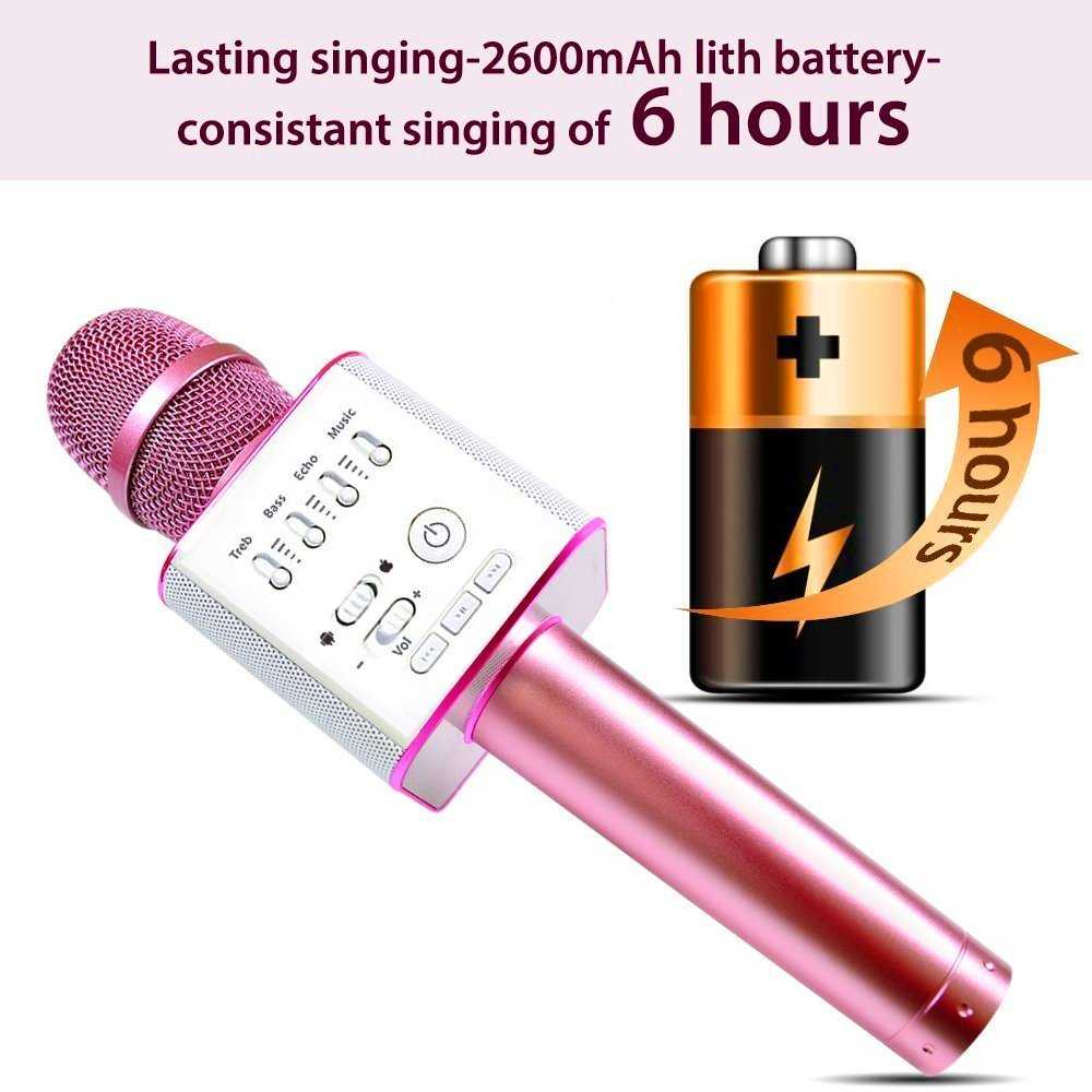 Portable Mic 3 In 1 Bluetooth Magic Karaoke Machine Wireless Q9 Player Microphones Handheld Stereo Speaker Outdoor Family