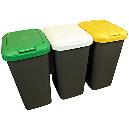 TONTARELLI - 75L ATTACHED RECYCLE RECYCLING PLASTIC WASTE BINS ...