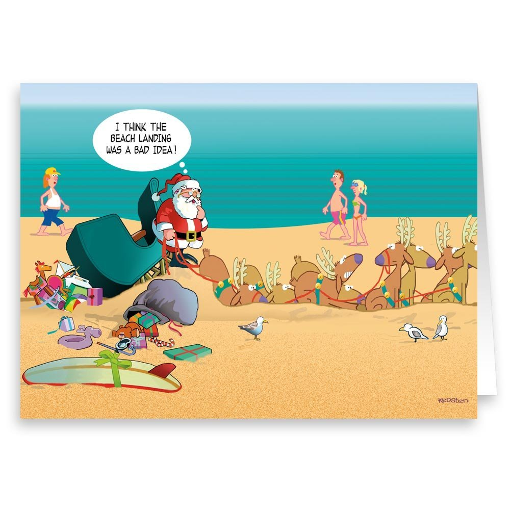 Amazon.com: Beach Landing Unsuccessful Funny Christmas Card   18 Cards/ 19  Envelopes: Health U0026 Personal Care