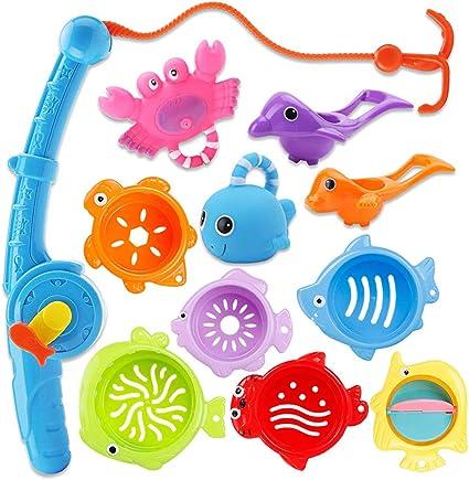Kids Bath Net Fishing Toy Squirters Fish Game In Bathtub Bathroom Pool Fun Toys