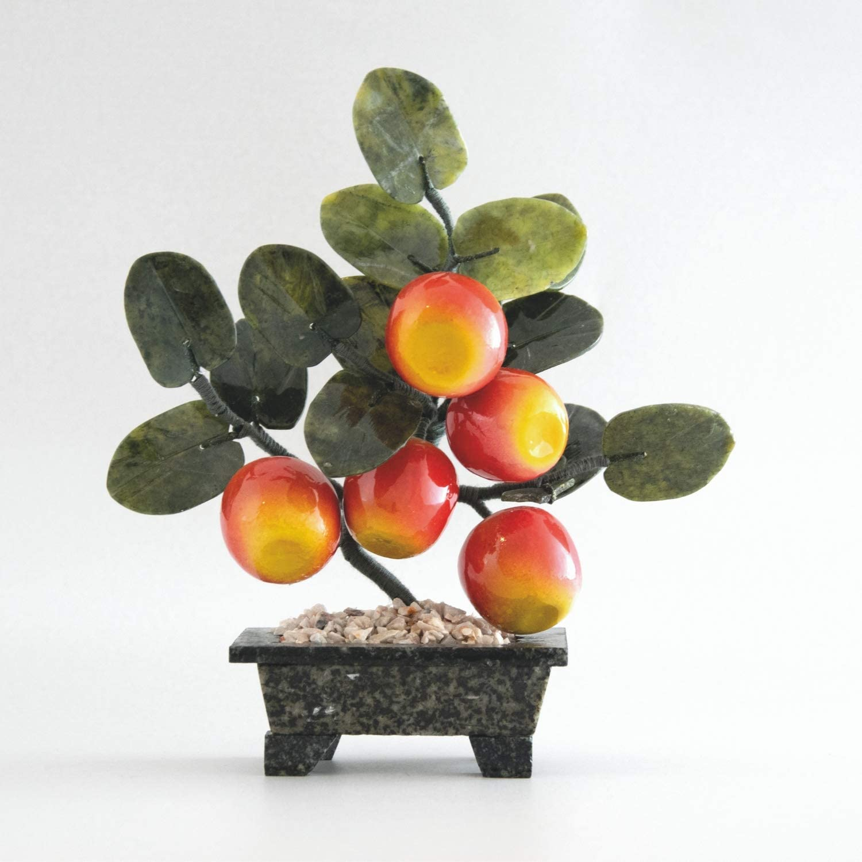 Iulia Feng Shui Crystal Apple Tree/Living Room Accessories/Decorative Glass Art/Glass Fruits/Mindfulness Gift/Money Tree