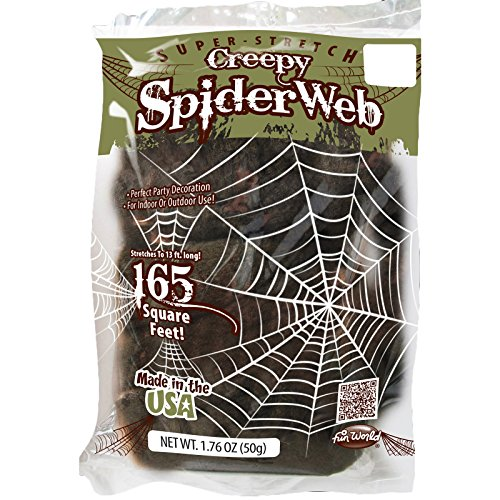 Fun World Super Stretch Indoor Outdoor Extra Creepy Green Spiderweb Accessory   Multi Colored  Standard