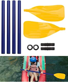 Keenso Inflatable Boat Dinghy Canoe Water Marine Sports Oars 2pcs Paddle