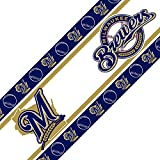 MLB Milwaukee Brewers Wall Border, 05 x 15, Multicolor