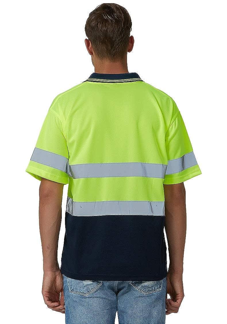 Unisex Warnschutz T-Shirt Warnschutzkleidung für Arbeit Hochsichtbar Shirt
