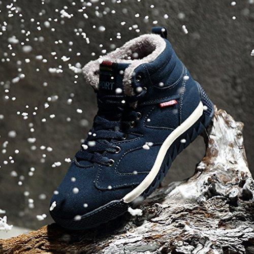 EU Foderato Invernali Piatto NEOKER con Blu Sport Verde Outdoor Nero 47 Neve 39 da Stivali Verde Caldo Skateboard Pelliccia Scarpe Caviglia Boots Uomo Stivaletti 4BdB0fx