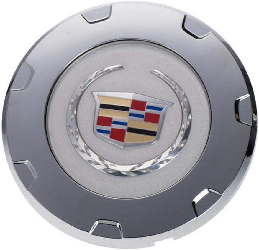 "22/"" 7 SPOKE WHEEL CENTER CAP CAPS W// RING Fit CADILLAC ESCALADE 2007-2014 CHROME"