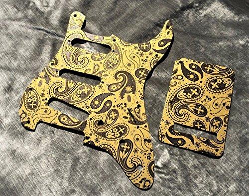 guitar parts Custom Gold Paisley Bakelite Pickguard fits Fender