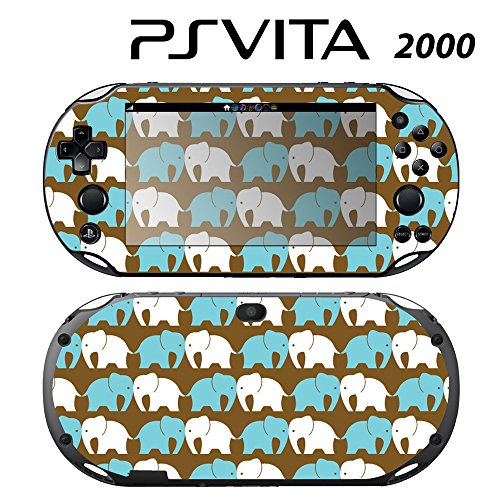 Skin Decal Cover Sticker for Sony PlayStation PS Vita Slim (PCH-2000) - Elephant -  Decals Plus, PV2-PA08