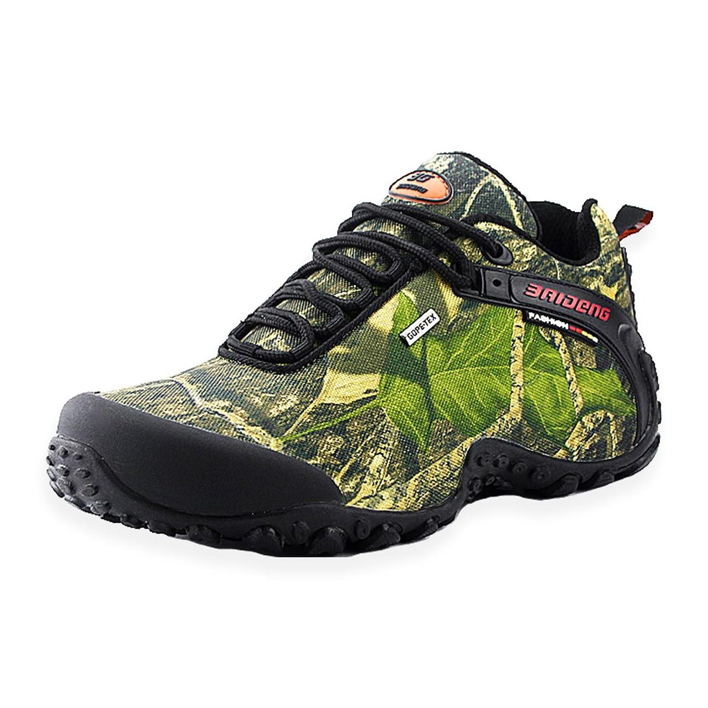 Hiwalk Men's Outdoor Waterproof Canvas Hiking Shoe