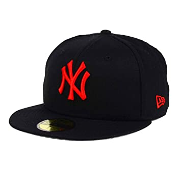 ee5a017780c New York Yankees Black Red MLB 59FIFTY  5950  Fitted Cap Size 7 1 2 ...