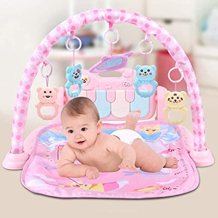 4 in 1 Kick and Play Piano Gym Musical Activity Play Mat Lights 0-36 m Rattle