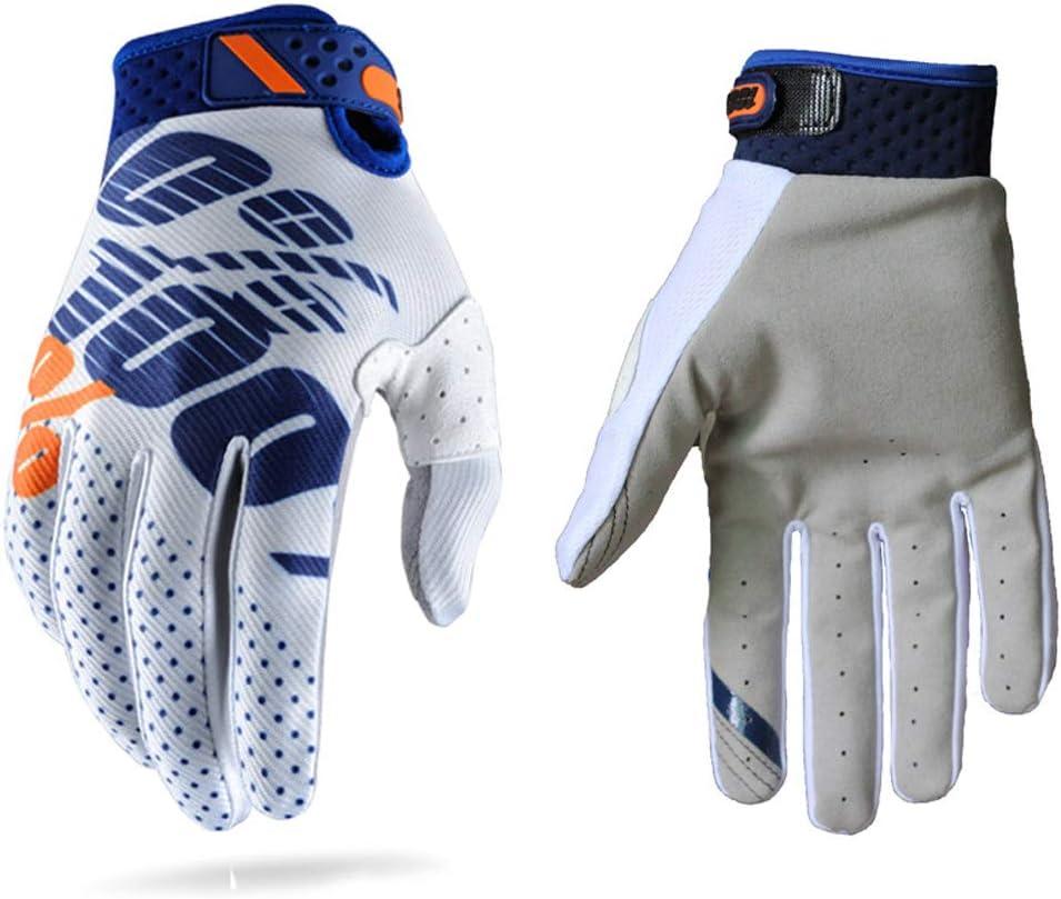 Guantes de carreras de motocross para hombres y mujeres; guantes deportivos con dedos completos en tallas S L XL y XXL M