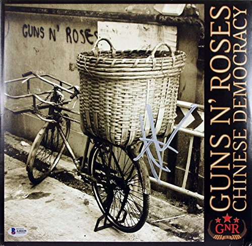 Chinese Cover Album (Axl Rose Guns N' Roses Signed Chinese Democracy Album Cover W/ Vinyl BAS #A10229 - Beckett Authentication)