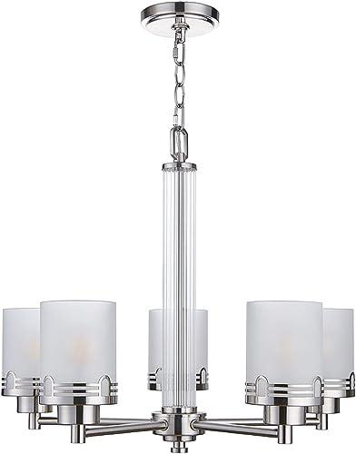 Doraimi 5 Light Chandelier,Fashion Style Ceiling Light Fixture