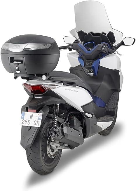 Noir Givi Support Valise Top Case Monolock Honda-NSS 125 Forza ABS