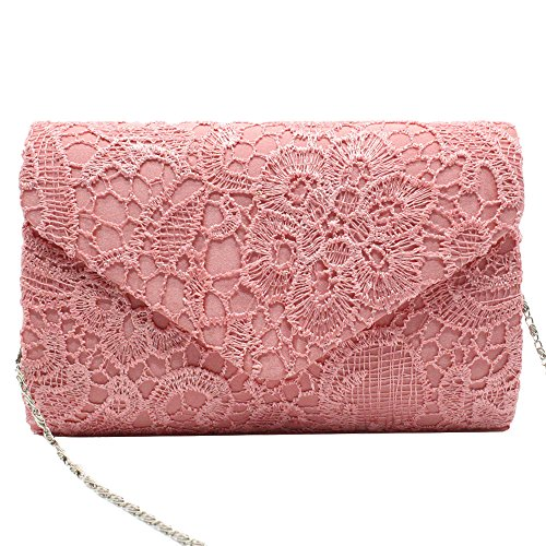 Purse Bag Wiwsi Women Handbag Bridal Lady Nice Floral Evening Clutch Party Lace qcqAwZ0P