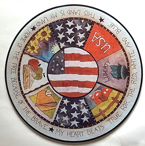 Patriotic Gift of American Flag Plate and Cutting Board for Military Family Gift and Gift for Military Vet for Veteran's Day
