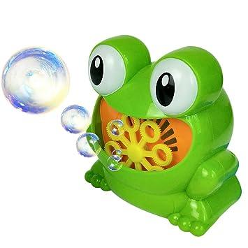 Baoblaze Juguete Infantil Máquina de Burbujas Automática en Forma de Rano Juego de Diversión para Navidad
