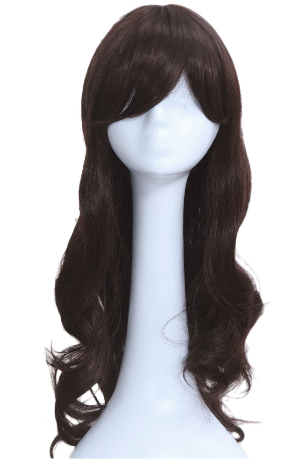 Carmen Sandiego Wig Cosplay Costume Black Long Curly Hair Accessories Halloween Xcoser