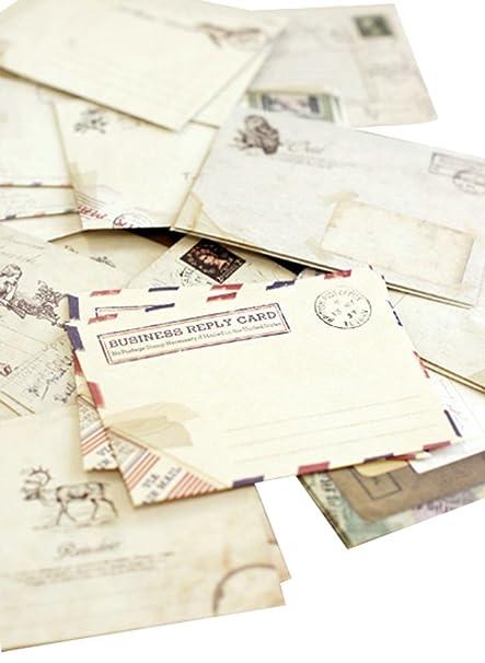 Milopon Sobres Pequeños en Color Marrón Estilo Vintage Retro ...