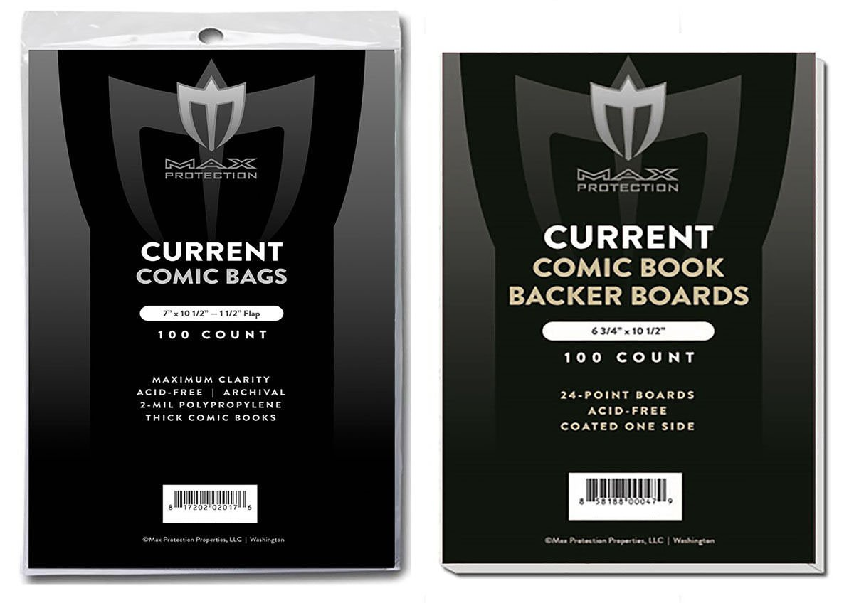 (1000) Current Size THICK Ultra Clear Comic Book Bags and Boards - by Max Pro (Qty= 1000 Bags and 1000 Boards)