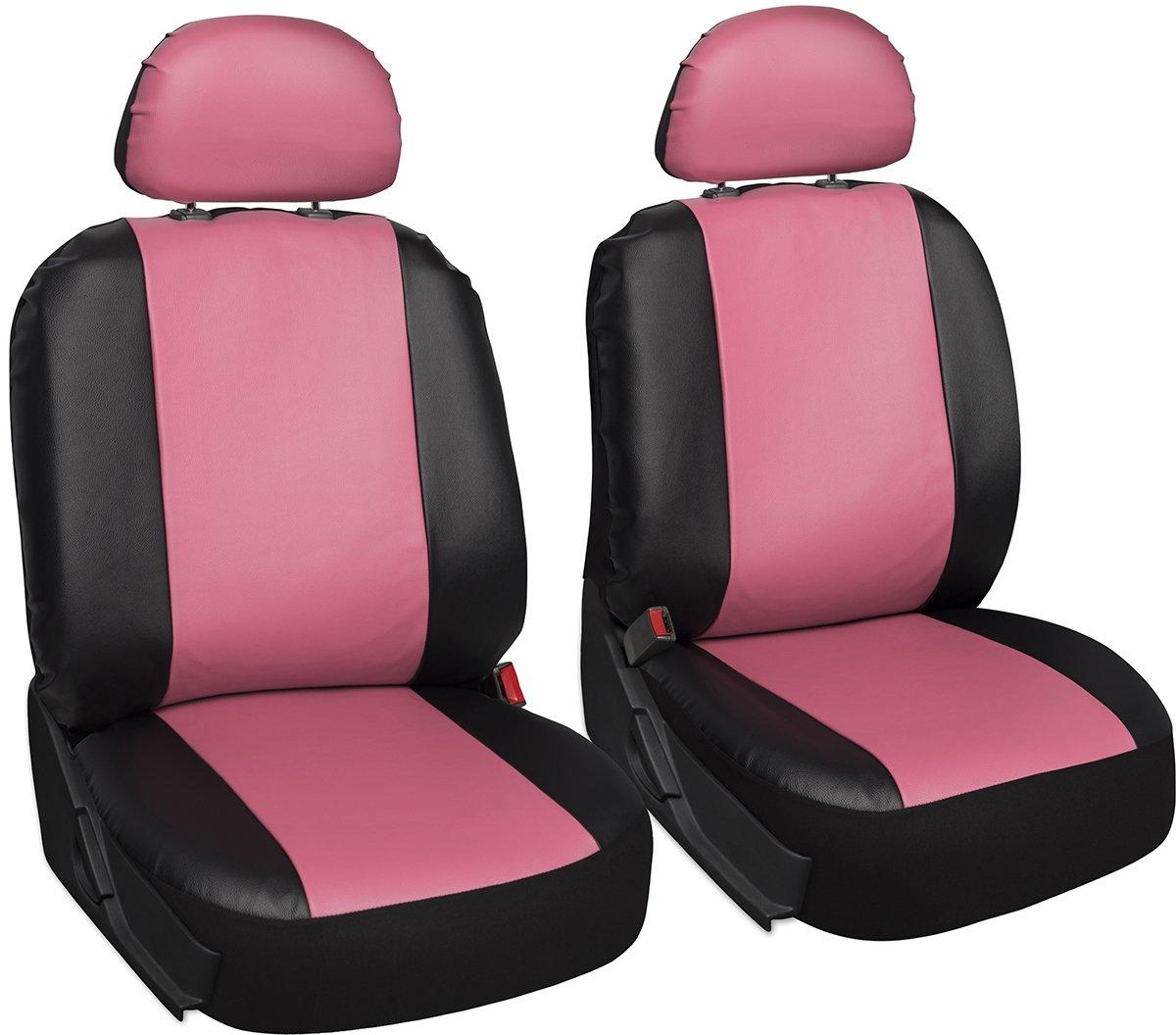 Amazon OxGord 17pc PU Leather Car Seat Cover Set