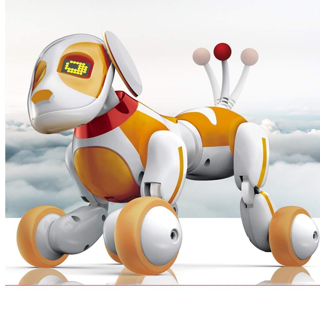 WSWJJXB Intelligenter Roboter des elektrischen Babyspielzeughundefrühunterrichts, der mechanischen Hund des Stunts singt und Tanzt