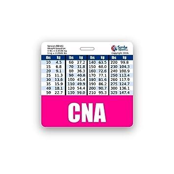 Amazon Cna Badge Buddy Horizontal Wheight Weight Conversion