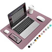 """Office Desk Pad Mouse Pad 23.6"""" x 13.8"""", PU Leather Desk Mat Blotters Protecter with Comfortable Writing Surface, Purple"""