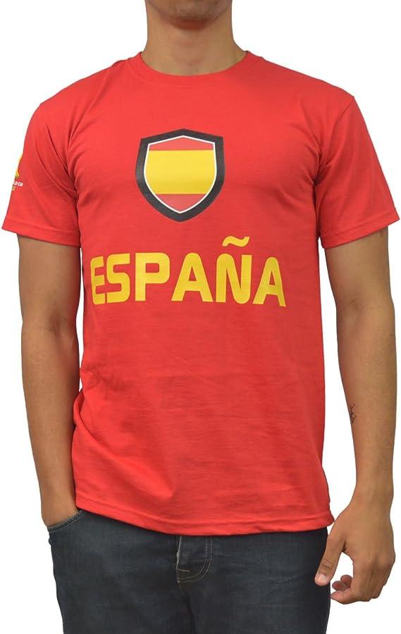 GB Sports - Camiseta para Hombre, diseño de España para la Copa Mundial de la FIFA 2014: Amazon.es: Ropa y accesorios